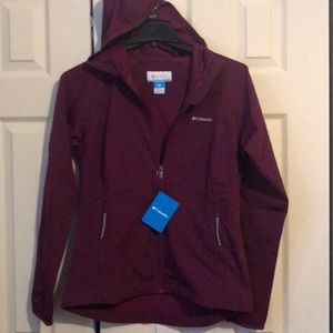 Columbia soft shell zip jacket